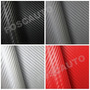 Adesivo Fibra Carbono Moldável - Preta Vermelha Prata Chumbo