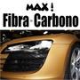 Adesivo Fibra De Carbono Importado - Ouro / Dourado