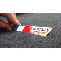 Emblema Badge Em Metal Renault Sport França Alta Qualidade !