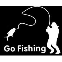 Acessório Adesivo Carro Go Fishing Va Pesca Pronta Entrega