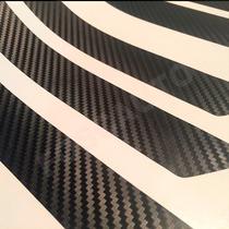 Adesivo Soleira Universal - Modelo Fibra Carbono Preto Fosco