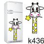 Adesivo K436 Girafa De Geladeira Baby Bebê Flor