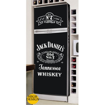 Kit Adesivo Skin Geladeira Envelopamento Jack Daniels Whisky