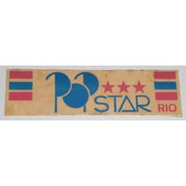 Pop Star Rio Adesivo De Papel Anos 80 11x3cm Surf Wear