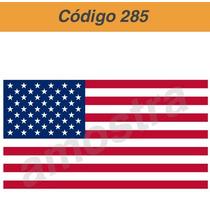 Adesivo Vinil Bandeira Usa - Código 258