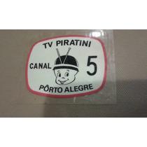 Adesivo Antigo Tv Piratini Canal 5 Porto Alegre Rs Raro