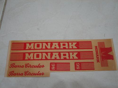 Adesivos Para Bicicleta Monark Barra Circular 86