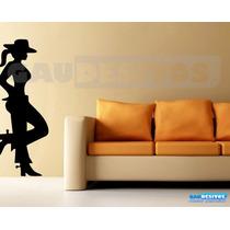 Adesivo Decorativo De Parede Cowboy, Country Peão Boiadeiro