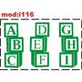 Adesivo I116 Alfabeto Letras Abcdefghi Quarto Menino Menina