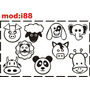 Adesivo I88 Porco Cachorro Leão Elefante Vaca Urso Adesivo
