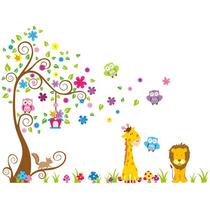 Adesivo Decorativo Quarto Infantil Corujinha Zoo Bicho 3,00m