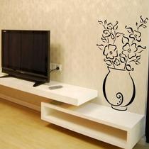Adesivo Decorativo Vaso Florido - Tamanho Pequeno