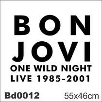 Adesivo Bd0012 Bon Jovi Rock Decoração Parede