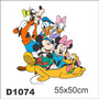 Adesivo D1074 Turma Mikey Pateta Pato Dolnad Pluto Disney