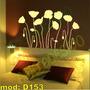 Adesivo Decorativo Mod D153 - Flores Astrais Tulipa Bonita