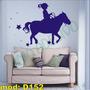Adesivo Decorativo Mod D152 - Menina Pônei Andar Cavalo