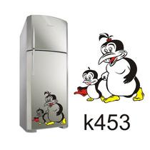 Adesivo K453 Adesivo Pinguins De Geladeira Pinguins Mãe