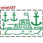 Adesivo I27 Barco Barquinho Navio Âncoras Marinheiro Quarto