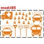 Adesivo I85 Ambulância Carro Polícia Viatura Policial Carro