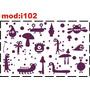 Adesivo I102 Monstros Sa Monstrinhos Alieníginas Espaço
