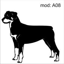 Adesivo A08 Cachorro Raça Rotwiller Decoração Parede