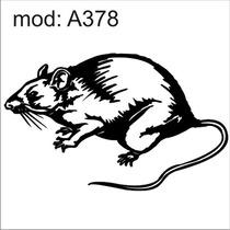 Adesivo A378 Desenho Abstrato Rato Gordo Animais