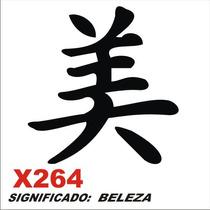 Adesivo X264 Ideograma Chinês Significado Beleza