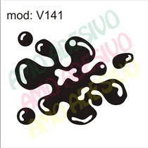 Adesivo V141 Tinta Gota Mancha Desenho Abstrato Decorativo
