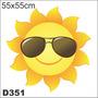 Adesivo Decorativo D351 - Sol Radiante Óculos Escuro Calor