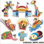Adesivo Imp8 Infantil Parque De Diversao Pipoca Aviao Splash