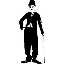 Adesivo Decorativo Charlie Chaplin