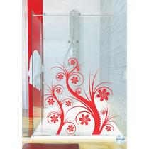 Adesivo Decorativo Parede Box Banheiro Quarto Floral Flor