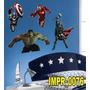 Adesivo Imp76 Marvel Os Vingadores Hulk Homem De Ferro Thor