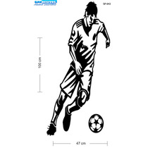 Adesivo De Parede Decorativo Jogador De Futebol Com A Bola