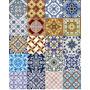 Kit De 05 Und Adesivo Azulejo Português Ladrilho 15x15cm