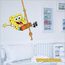 Adesivo Wpri2 Infantil Desenho Bob Esponja Calça Quadrada