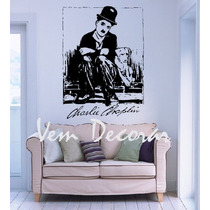 Adesivo Decorativo Charlie Chaplin 2 - Frete Grátis