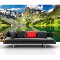 Painel Adesivo De Parede Decorativo Montanhas Lagos Rln123