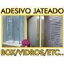 Adesivo Jateado Desenhos P/ Box Vidros Florais Listras Etc
