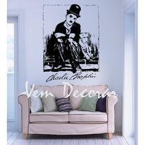 Adesivo Decorativo Charlie Chaplin 2 140 Cm X 100 Cm Grande