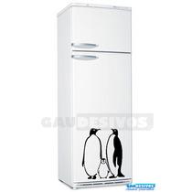 Adesivo Decorativo De Geladeira Familia Pinguim Box Parede