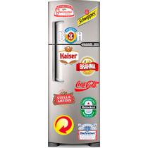 Skin Geladeira Pacote 10 Adesivos Cervejas Refri Vc Escolhe