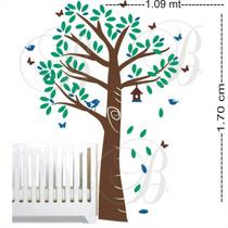 Adesivos De Parede Decorativo Árvores Florais Infantil Berço