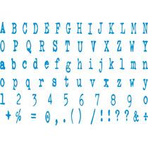 Adesivo Az09 Alfabeto Cartela Fonte Ghost Writter Decoração