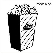 Adesivo K73 Alimentos Pipoca Saquinho De Pipoda Doce Cinema