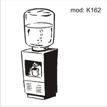 Adesivo K162 Utensilios Cozinha Filtro De Agua Galao D