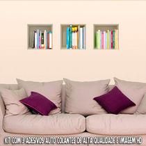 Adesivo Para Parede Livros 3d - Exclusividade