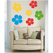 Adesivo Decorativo Parede Geladeira Box Floral Kit 72 Flores
