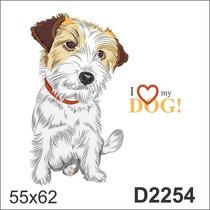 D2254 Adesivo Decorativo Cachorro Cachorrinho I Love My Dog
