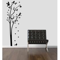 Adesivo Decorativo Parede Árvore Pássaro Estela Galho Folha